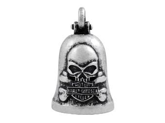 Ride Bell Harley-Davidson Skull mit Knochen