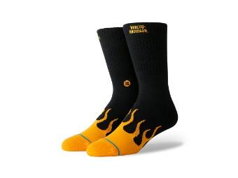 Stance X H-D Socken 'Flames'