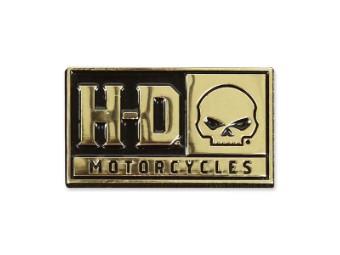 Pin H-D Skull
