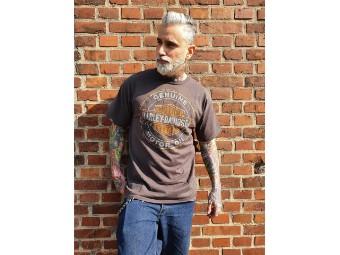 Herren Shop Shirt 'splinter Oil'