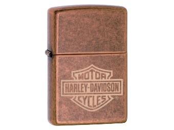 Feuerzeug Bar & Shield Kupfer