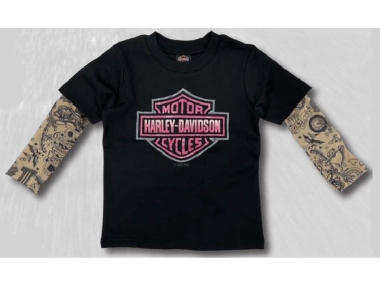 1020153-3, Mädchen T-Shirt mit Tattooärmeln