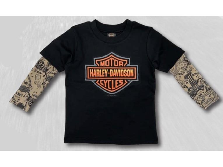1070151-2, Jungen T-Shirt mit Tattooärmeln