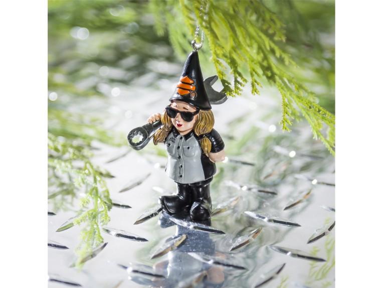 3OT4902GMD, Gnome Ornament H-D Female Machanic