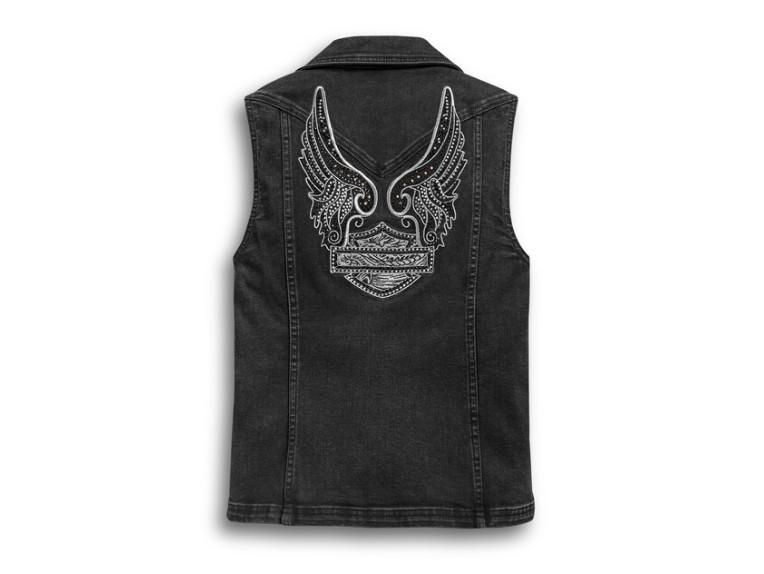 97433-20VW/000M, Vest-Woven,black