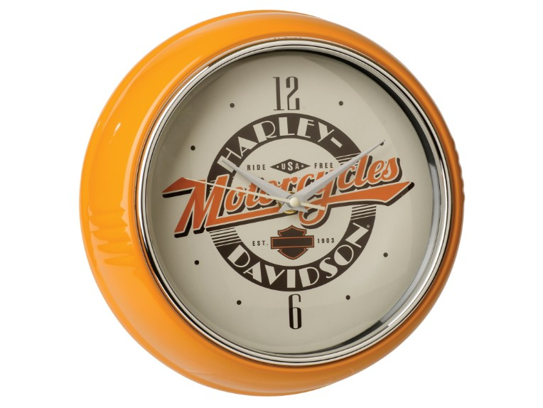 HDL16643, Ride Free Retro Diner Clock