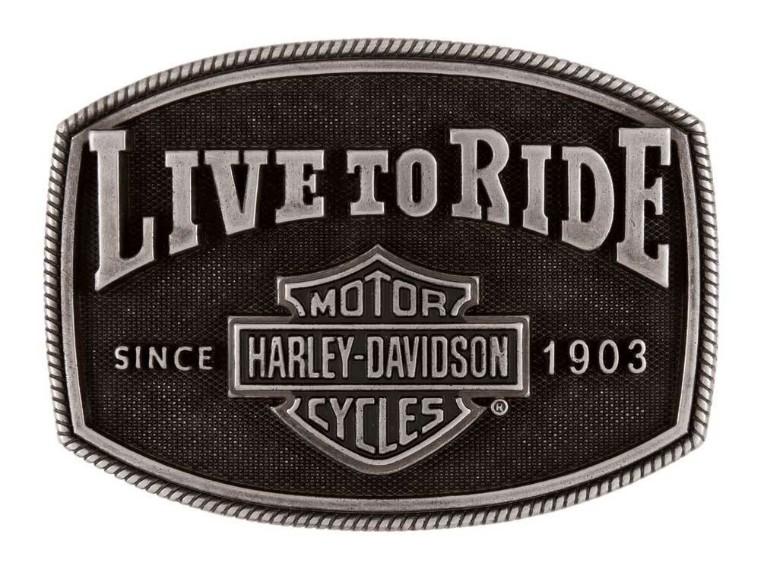 HDMBU11702, Live 2 Ride Buckle