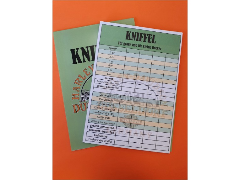 KNIFFELBLOCK H-DD, Kniffelblock 25 Blatt