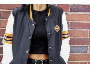 Women's Sleeve Stripe Bomber Jacket
