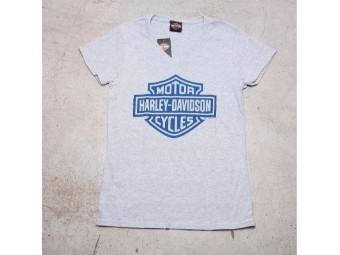 HD Ladies T-Shirt - B&S On Gray