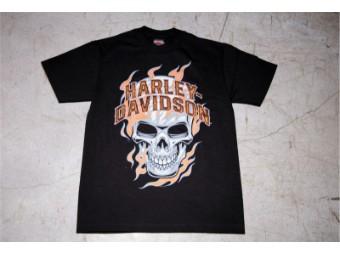 HD T-Shirt - Skull Flames