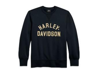 Sweatshirt Script schwarz
