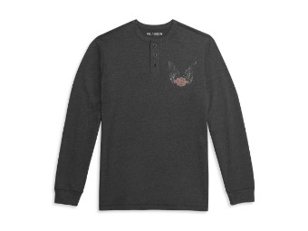 AT THE SPEED OF FREEDOM KNIT HENLEY