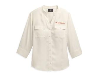 3/4 Shirt Woven white
