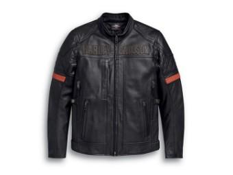 Vanocker Waterproof H-D® TRIPLE VENT SYSTEM™ Leather Jacket