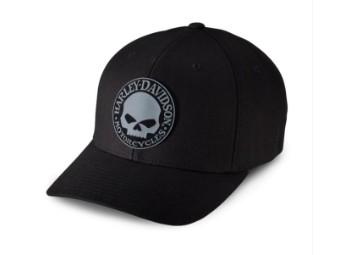 Rubber Skull Patch Stretch Cap für Herren