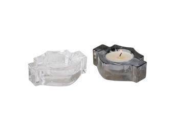 H-D B&S Shaped Tea Light Holder Set