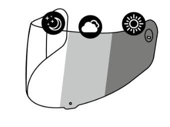 X-SPIRIT III CWR-1 PHOTOCROMIC VISOR