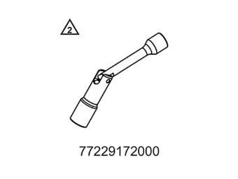 Zündkerzenschlüssel mit Gelenk