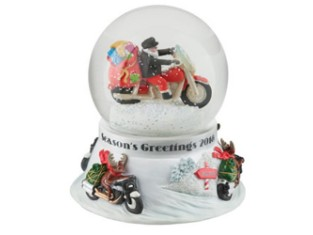 H-D 2018 Biker Santa Snowglobe