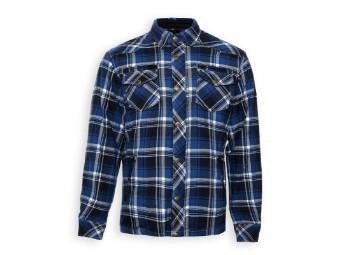 Lumberjacke/Hemd blau-weiß