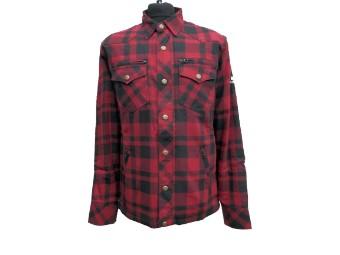 Lumberjacke/Hemd dunkelrot-sch warz