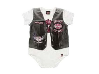 Infant Girl Creeper with Vest