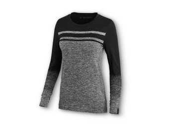 TEE-NEARLY SEAMLESS,L/S,KNT,CL