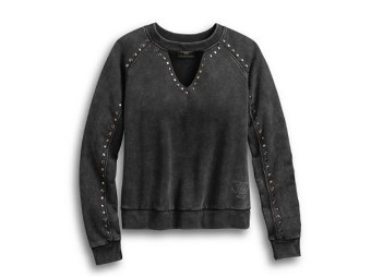 PULLOVER-STUDDED,WINGED,L/S,KN