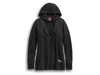 HOODIE-WINGED HEART,L/S,KNT,BL