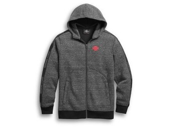 HOODIE-SLEEVE TAPE,L/S,KNT,GRY