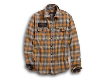 SHIRT-FLOCKED EAGLE,L/S,WVN,PL