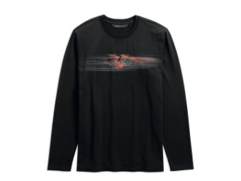 TEE-ENGINE,L/S,KNT,BLK