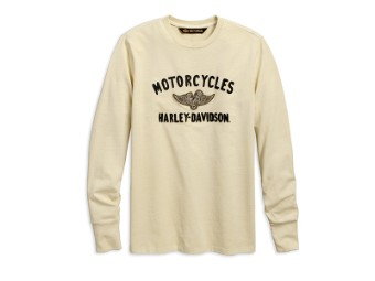 TEE-WINGED PISTONS,L/S,KNT,TAN