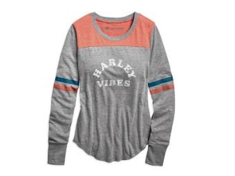 TEE-HARLEY VIBES,VARSITY,L/S,K