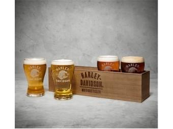 BEERFLIGHT-BL,GLASSES,WOOD,BOX
