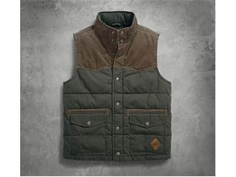 VEST-BL,OUT,FLANNEL,LINED,GREE