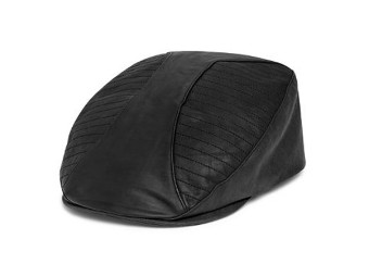 CAP-IVY,LEATHER & COATED TWILL
