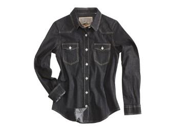 Juneau Black Denim Shirt Lady