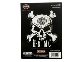 H-D Skull and Crossbones 6x8Decal-12