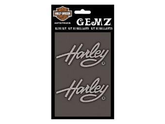 Harley Script Gemz Bling