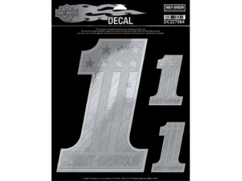 Decal Silver One