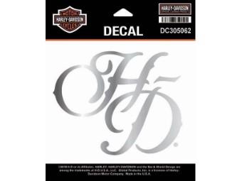 Decal, H-D Chrome,SM,Metallic Silber