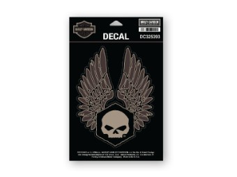 Decal, Forged Wings, MD, Black & Brown