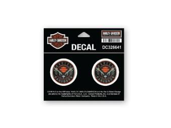 Decal, Velocity Eagle, XS, Black & Orange, Dome
