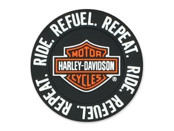 """Magnet Ride Refuel Repaet 2"""" Wx 2"""" H"""