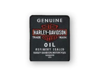 Emblem, Genuine Oil, SM, Black