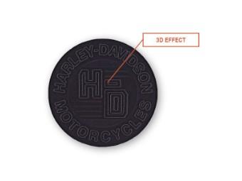 Emblem, Forged Circle, LG, Black, Cotton Twill