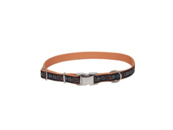 Nylon Collar Bar and Shield Orange