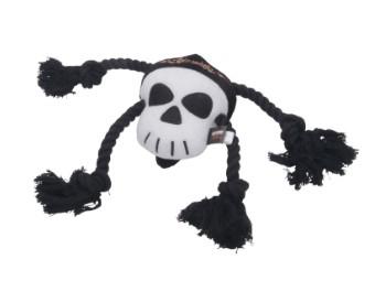 Pet-Plush Rope Tug Toy-Skull